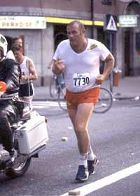 Ingo sprang Stockholmsmaran för Spola Kröken-kampanjen 1981